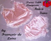 Pink silk camisole and French Knicker set by Francois de Loire