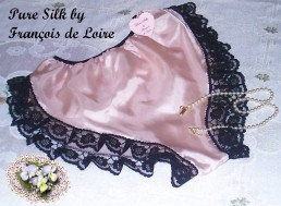 pink silk french knicker